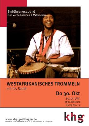 Westafrikanisches Trommeln_Plakat
